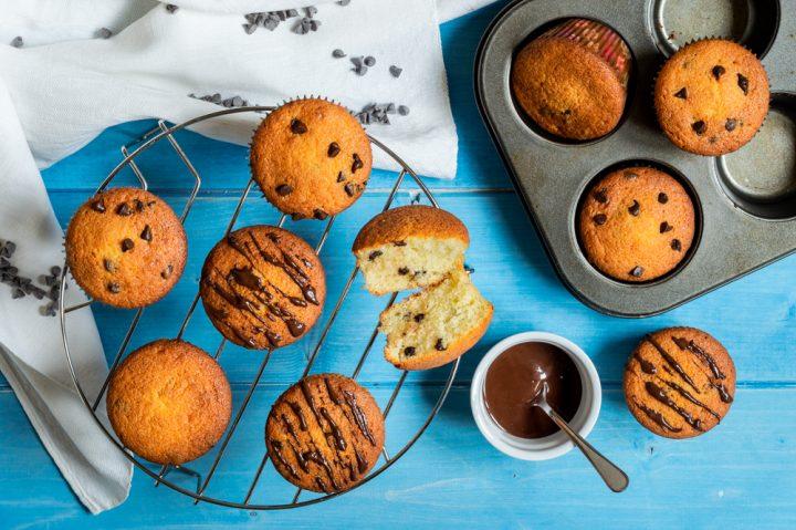 muffin yogurt e cioccolato