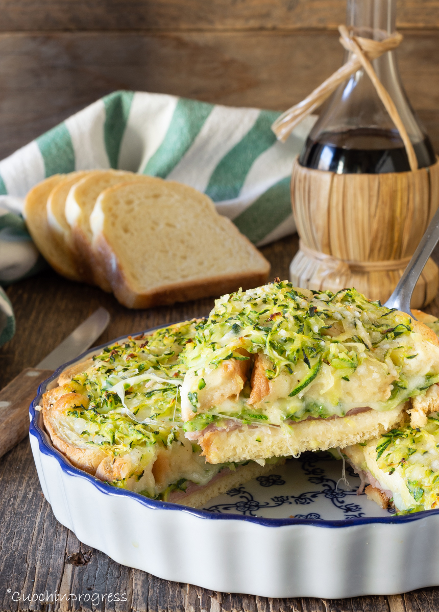 torta di pane con zucchine