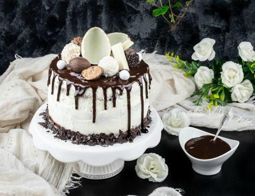 Drip cake al cioccolato e mascarpone