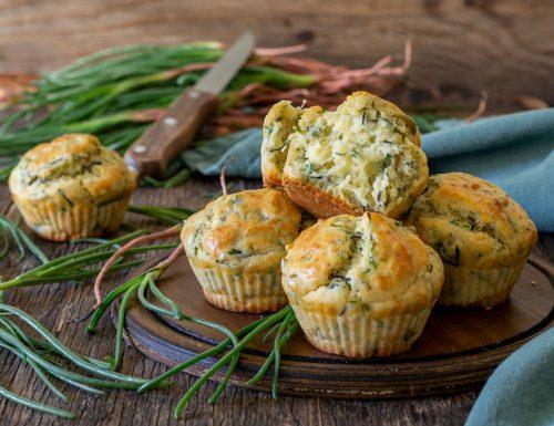 Muffin con agretti e olive