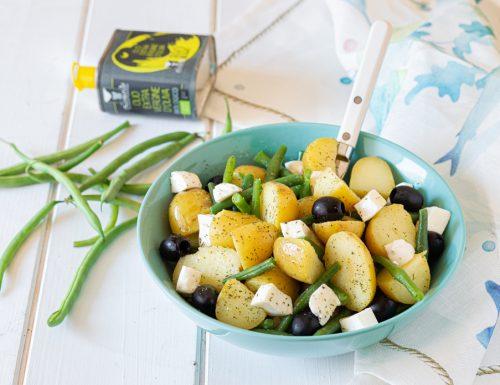 Insalata di patate fagiolini e mozzarella