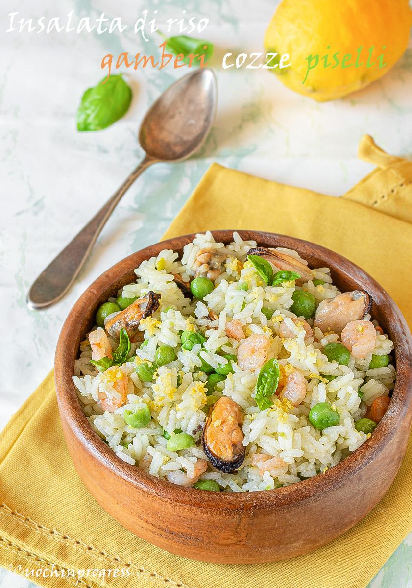 insalata di riso gamberi