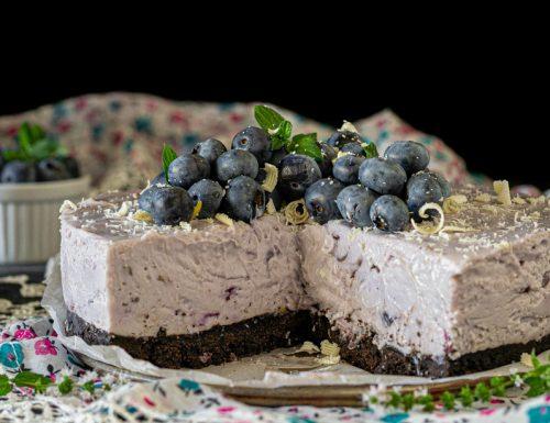 Cheesecake mirtilli e cioccolato bianco