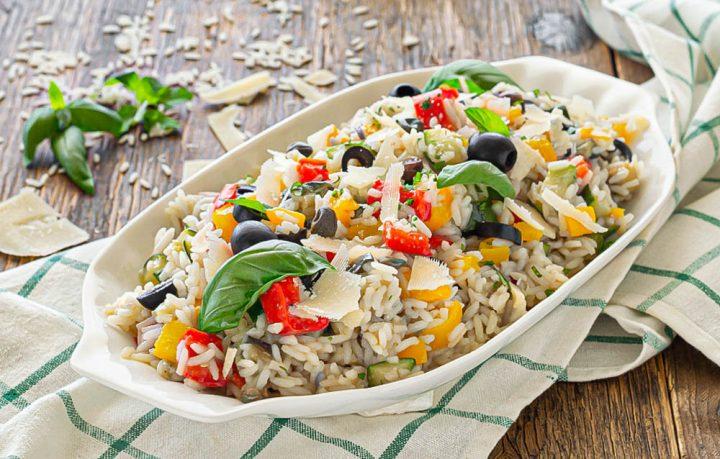 insalata di riso all'ortolana