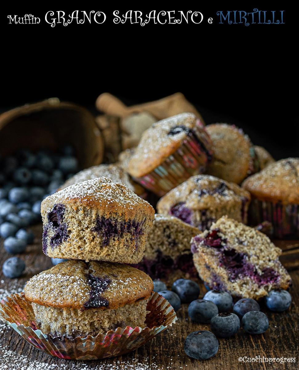 muffin di grano saraceno e mirtilli