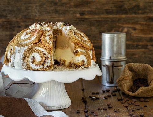Zuccotto gelato caffè e panna