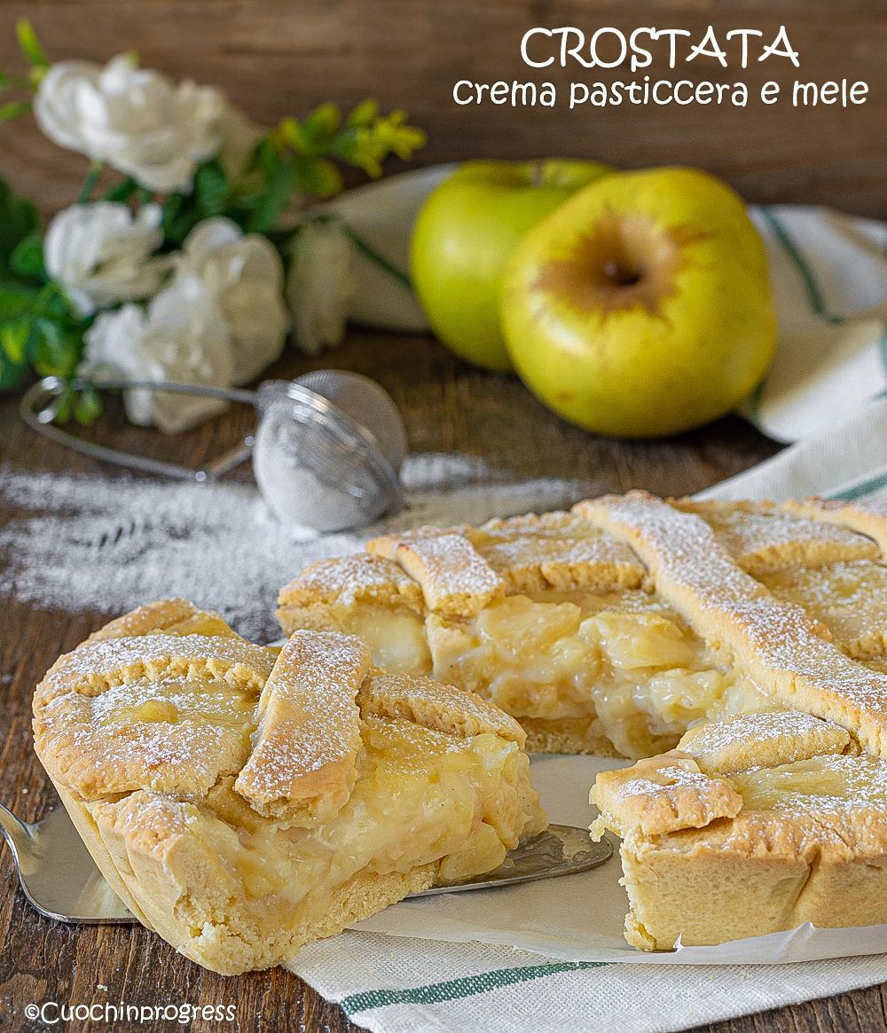 crostata crema pasticcera e mele