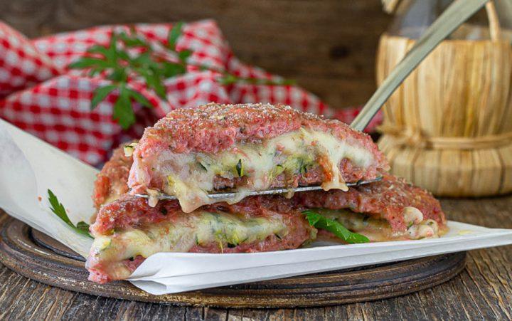 tramezzini di carne con prosciutto zucchine e formaggio