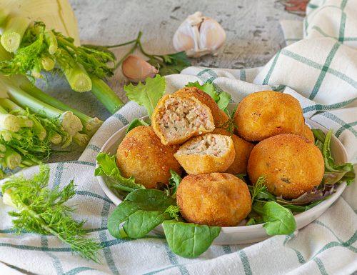 Polpette di finocchi prosciutto e formaggio