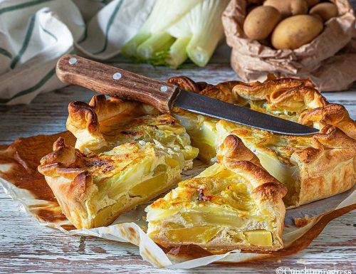 Torta salata di patate e finocchi
