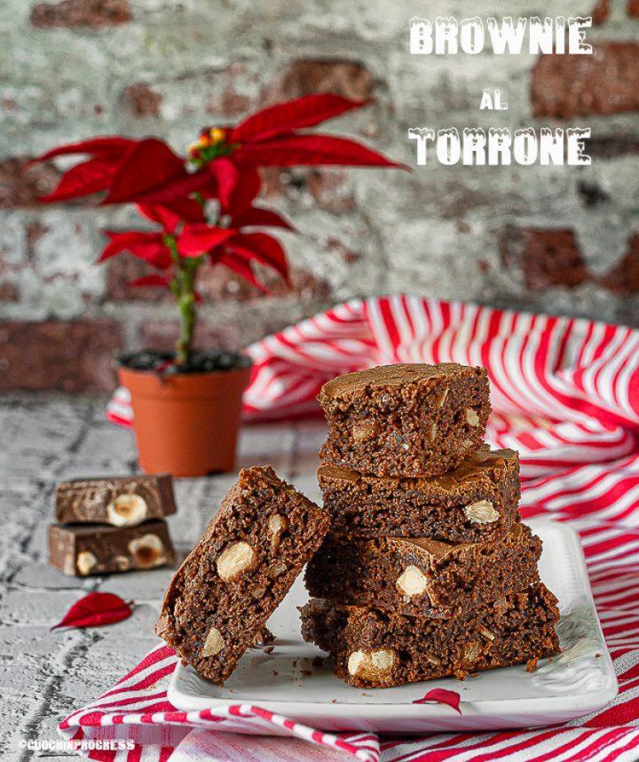 brownie al torrone