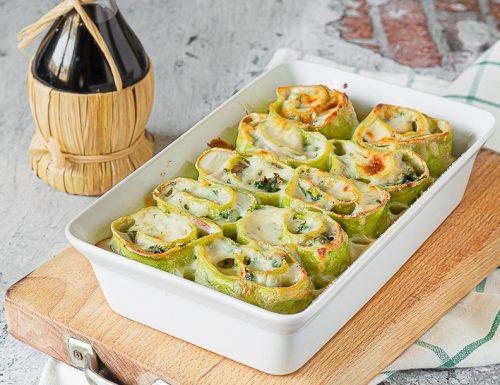 Nidi di rondine con prosciutto, spinaci e mozzarella