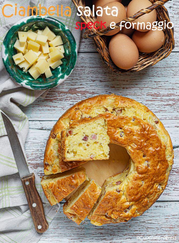 ciambella salata speck e formaggio