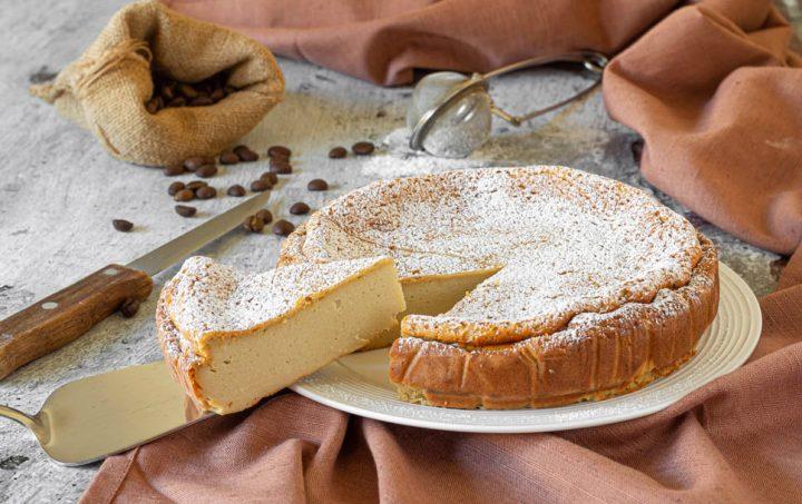 torta cremosa alla ricotta e caffè