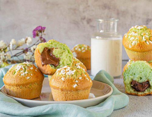 Muffin menta e nutella