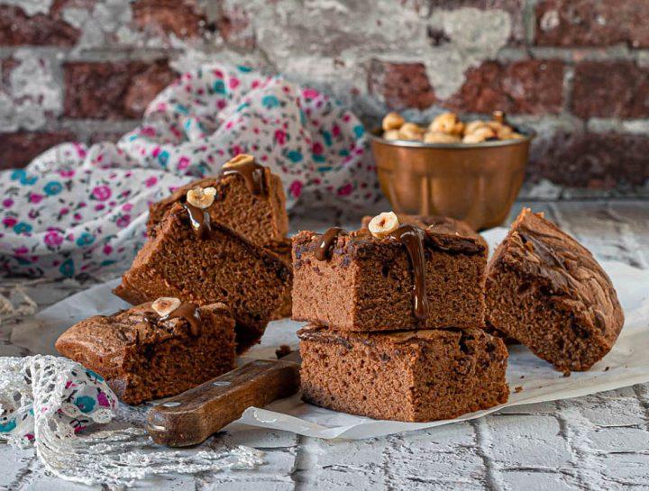 brownie alla crema di nocciola