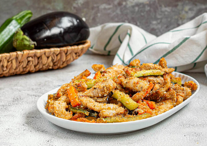 straccetti di tacchino e verdure al forno