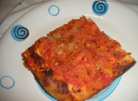 Lo sfincione pizza alle 3 farine