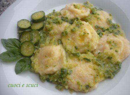 Ravioli di patate con zucchine