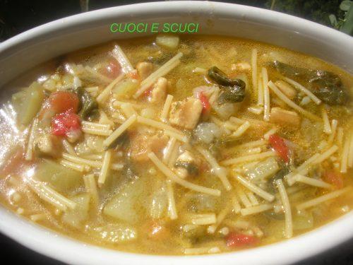 Minestra di zucchine e tenerumi