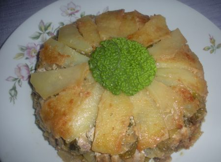 Tortino di alici, verza e patate