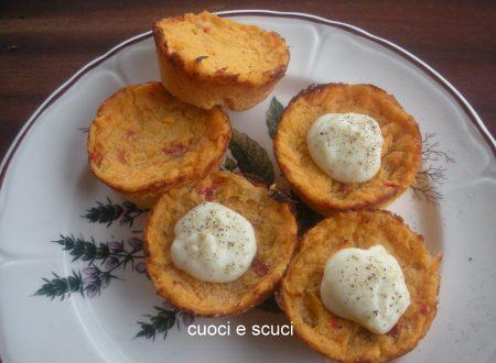 Tortini di patate e fonduta