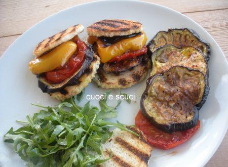 Verdure al forno con bruschette