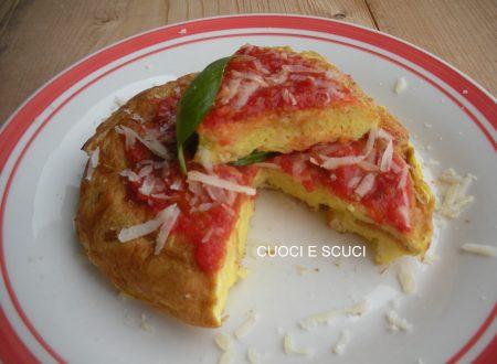 La pizza di pane-ricetta del riciclo