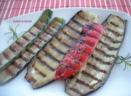 Metodo diverso per grigliare verdure