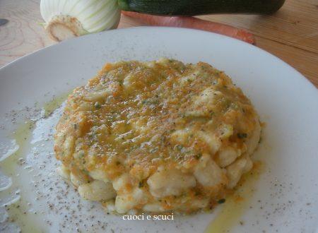 Gnocchetti sardi con purea di verdure