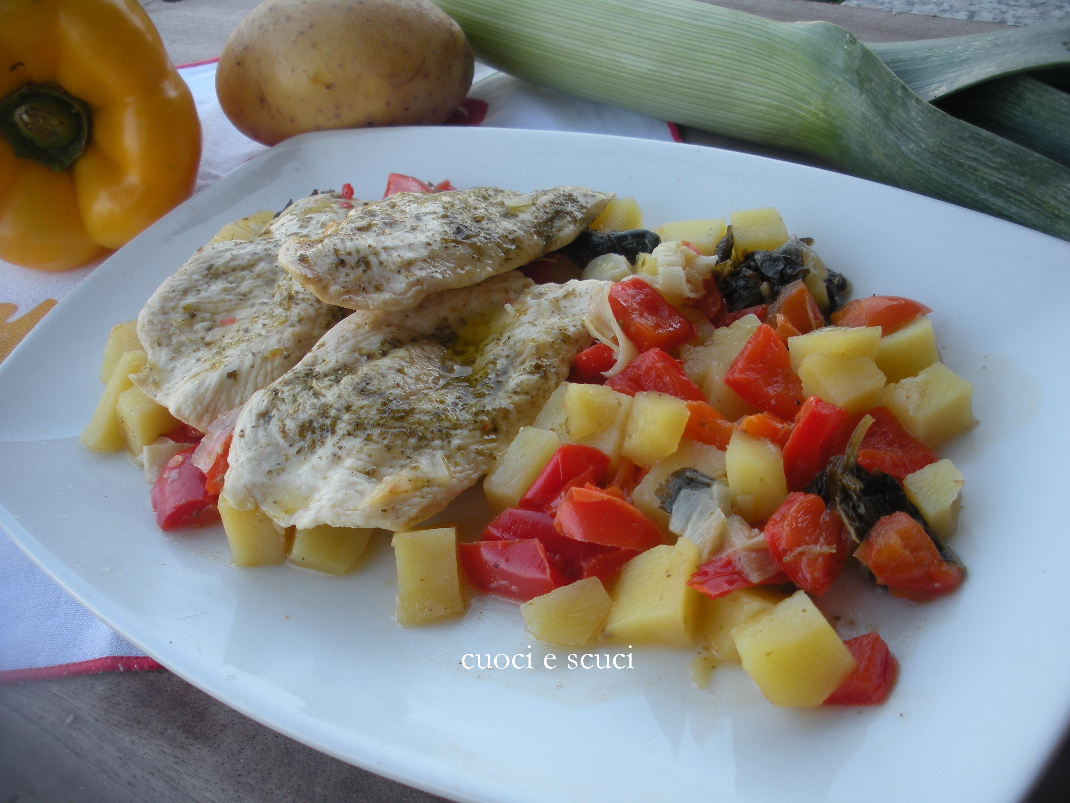 Pollo e verdure in agrodolce