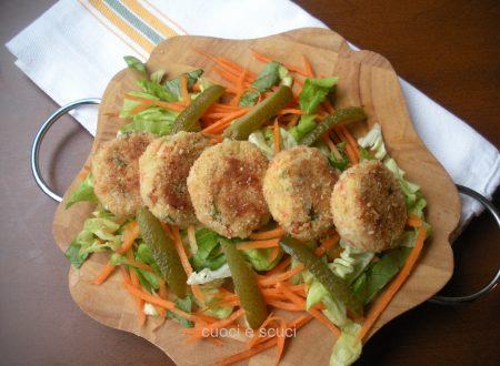 Frittelle salmone e patate al forno