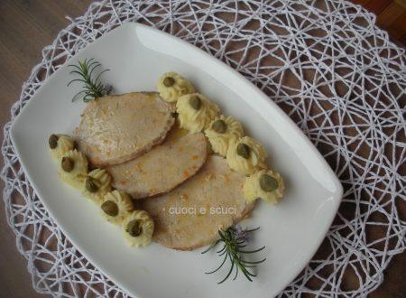 Arrosto con riccioli di purè di patate