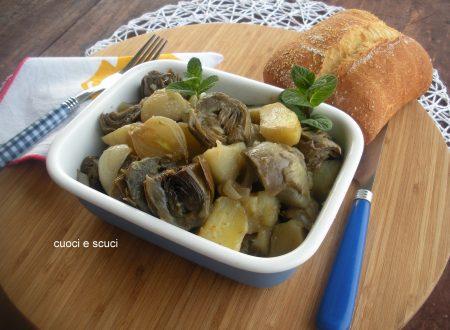 Carciofi e patate in tegame