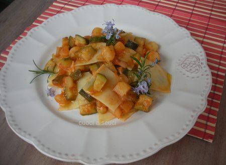 Lasagne spezzate con patate e zucchina