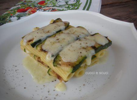 Parmigiana bianca di zucchine e pasta