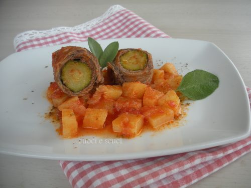 Involtino di carne zucchina e patate