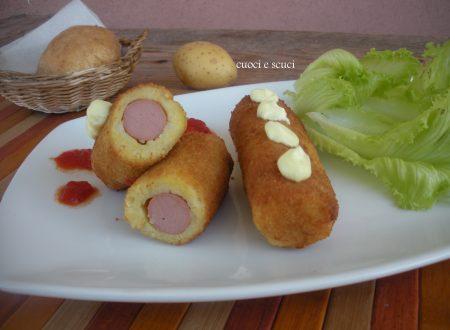 Involtini di patate e wurstel