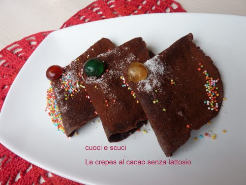 Crepes al cacao, dolci senza lattosio