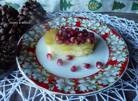 Tortina cremosa con mele, mousse e melagrana