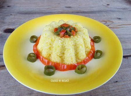 Torta di riso Thai, cottura metodo pilaf con peperoncini