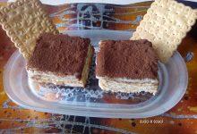Millefoglie di biscotti e biancomangiare