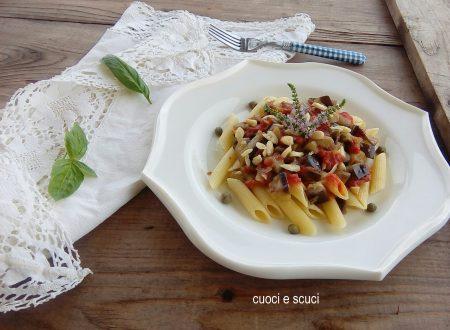 Pasta con melanzane a funghetto versione light