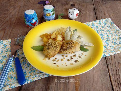 Pollo con patate e salvia pastellata
