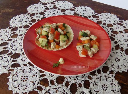 Pesce spada con dadolata di verdure e citronette
