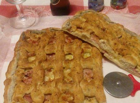 Crostata in gabbia ovvero pizza  bianca farcita