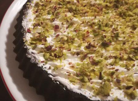 Crostata cacao panna e pistacchi
