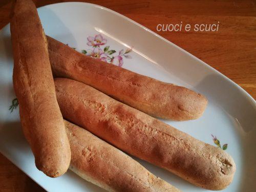 Filoncini di pane alle tre farine