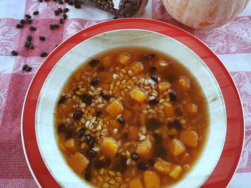 Zuppa di farro e zucca