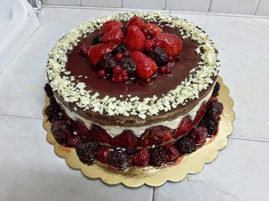 torta bavarese cioccolato bianco